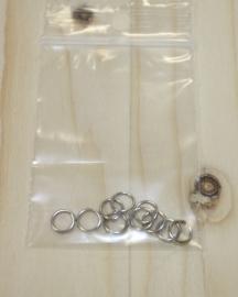 1101 - Buigringen Zilver 6mm 10 stuks