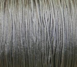 Satijnkoord - grijs/zilver