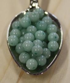 Jade perle - Tender Olivengrün - 4mm