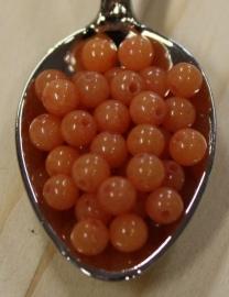 Jade kraal - Koraal oranje - 4mm