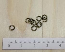 1106 - Buigringen Brons 4mm 10 stuks