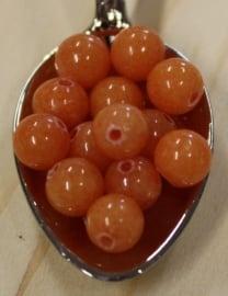 Jade kraal - Koraal oranje - 6mm