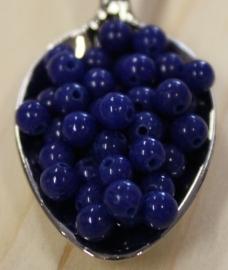 Jade perle - Dunkel Blau - 4mm