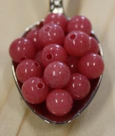 Jade kraal - Rose violet - 6mm