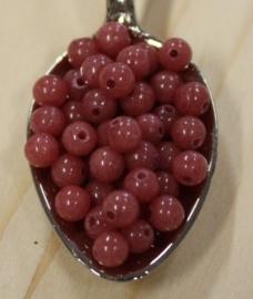 Jade kraal - Burgundy rood - 4mm