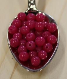 Jade perle - Violett Rot - 4mm