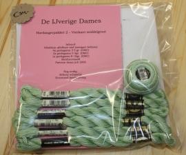 Hardangerpakket 2 - vierkant middel - groen