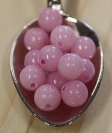 Jade kraal - Licht rose - 6mm