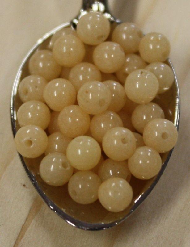 Jade kraal - Tender peach - 4mm