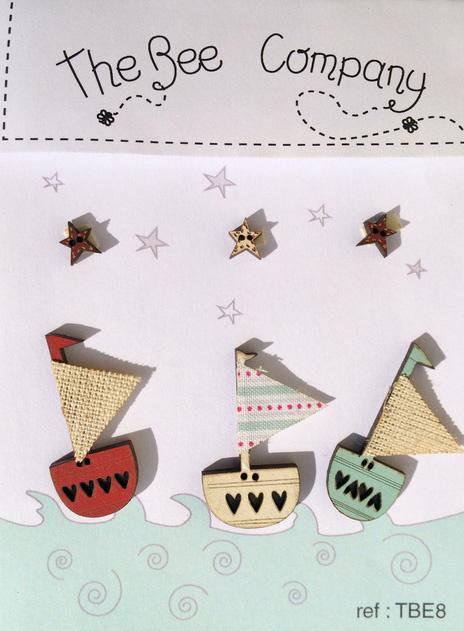 Knopen - boats & stars - TBE8
