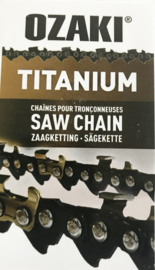 "Ozaki Titanium zaagketting 1.3mm 3/8"" 44 aandrijfschakels halfronde beitelvorm  Artnr ZK38LP50TI-E44"