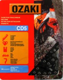 Ozaki zaagketting | 1.3mm | 3/8 | 52 schakels | halfronde beitelvorm Artikelnummer CD5