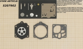 Membraamset passend op Walbro WJ vervangt K15-WJ passend op STIHL 64, 66, 066, Magnum