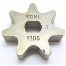 Aandrijftandwiel 3/8p 7Tands voor de stihl mse art. nr. 1206 642 1301