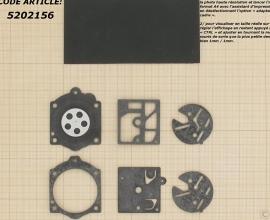 Membraamset passend op Walbro vervangt  D1HDC, D10-HDC, 350503 passend op STIHL 015 - SOLO 600/605/606/616/631