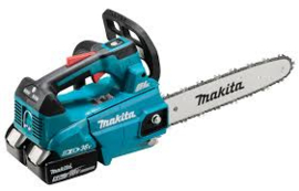 Makita DUC306Z 2x18V Tophandle kettingzaag 30cm + 2 kettingen + 2 liter olie en gratis accu 5Ah
