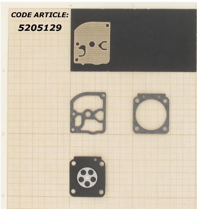 Membraamset passend op Zama C1Q vervangt   GND28 Passend op STIHL FS450, ,FS400, FS85, FS108, FS106, FS38, FS45, FS46 & BG75.  en andere