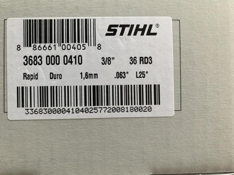 Stihl Rapid Duro (Widia) ketting op rol | 1.6mm | 3/8 | 7.5 meter | 410 schakels | 3683 000 410