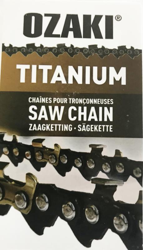 "Zaagketting Ozaki Titanium 1.3mm 3/8"" 40 aandrijfschakels halfronde beitelvorm artnr ZK38LP50TI-E40"