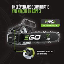 Ego CSX 3002 tophandle kettingzaag met 4Ah accu, snellader, gratis 2 stihl kettingen en 2 liter olie