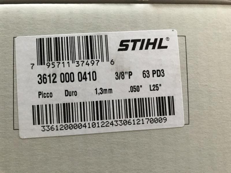 Stihl Rapid Duro (Widia) ketting op rol | 1.3mm | 3/8p | 7.5 meter | 410 schakels | 3612 000 410