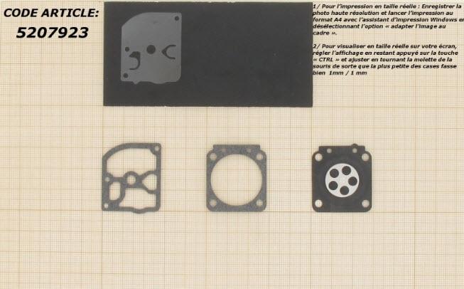 Membraamset passend op Zama vervangt RB-11 passend op Pakking en membraanset ZAMA voor carburatoren gemonteerd op STIHL BG55, BG85, SH55, HS45, FS450. Vervangt origineel: GND50