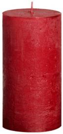 Bolsius - Stompkaars Metallic rustiekkaars 130/68 Rood