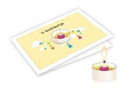 Candle card 'n Dochtertje wenskaart