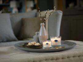 Gouda Geurglas Satijn wit / Fresh jasmine & bergamot 90/100 mm
