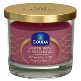 Gouda Geurglas Diamant roze / White rose & patchouli 90/100 mm