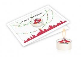 Candle card Vrolijk kerstfeest
