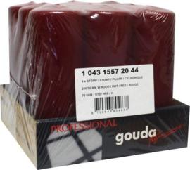 GoudaStompkaars Wijnrood 200/70 tray  9 stuks