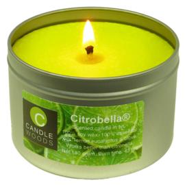 Citrobella® Citronella kaars in blik met vensterdeksel en katoenlont 180 g