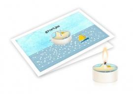 Candle card Groetjes wenskaart
