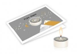 Candle card Kerst Fijne dagen