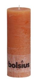 Bolsius Stomp Rustiek Oranje 190/68