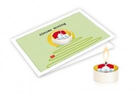 Candle card Nieuwe woning