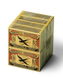 Zwaluw Lucifers klein doosje 8-pack