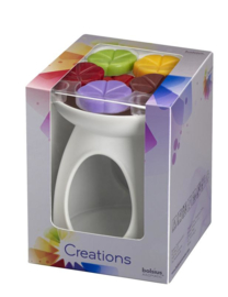 Bolsius Creations Cadeau Set Wit (brander + 6 chips)