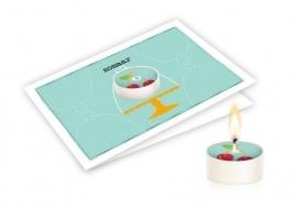 Candle card Zomaar wenskaart