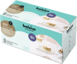 Bolsius Professional - Horeca Waxinelichten 6 uur 500 stuks