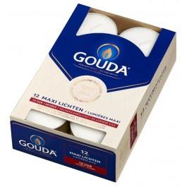 Gouda witte 10-uurs maxi waxinelichtjes in doos 12 stuks