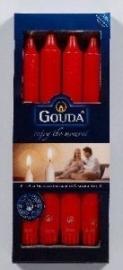 Gouda  Kroonkaarsen 240/24 Rood ( 8 stuks)