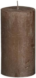 Bolsius - Stompkaars Metallic Rustiek  130/68 bruin koper