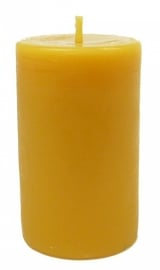 Bijenwas kaars stomp 6 geel