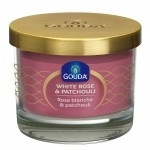 Gouda Geurglas Diamant roze / White rose & patchouli 66/88 mm
