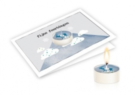 Candle card Fijne feestdagen