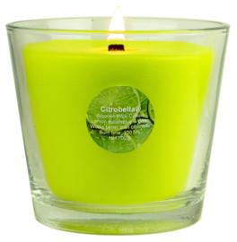 Citrobella® XL citronella kaars in glas met stil houtlont 700 g