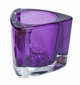 Dikwandig glas triangel voor (maxi) theelicht