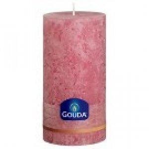 Gouda Rustieke stompkaarsen 150/75 mm Diamant roze